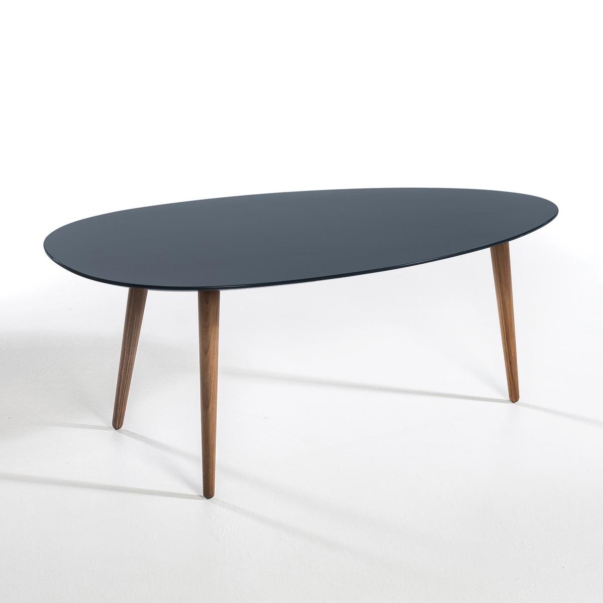 Журнальный столик из каучукового дерева с лакированным покрытием  Дл100 см, Flashback от La Redoute