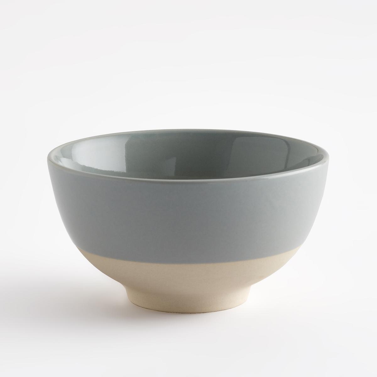Комплект из 4 двухцветных мисок из керамики, Warota от La Redoute