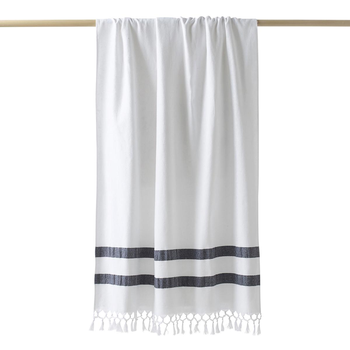 Полотенце La Redoute Махровое в стиле пляжного покрывала ANTALYA 90 x 175 cm белый полотенца банные hobby home collection махровое полотенце 70x140 versal розовое 100