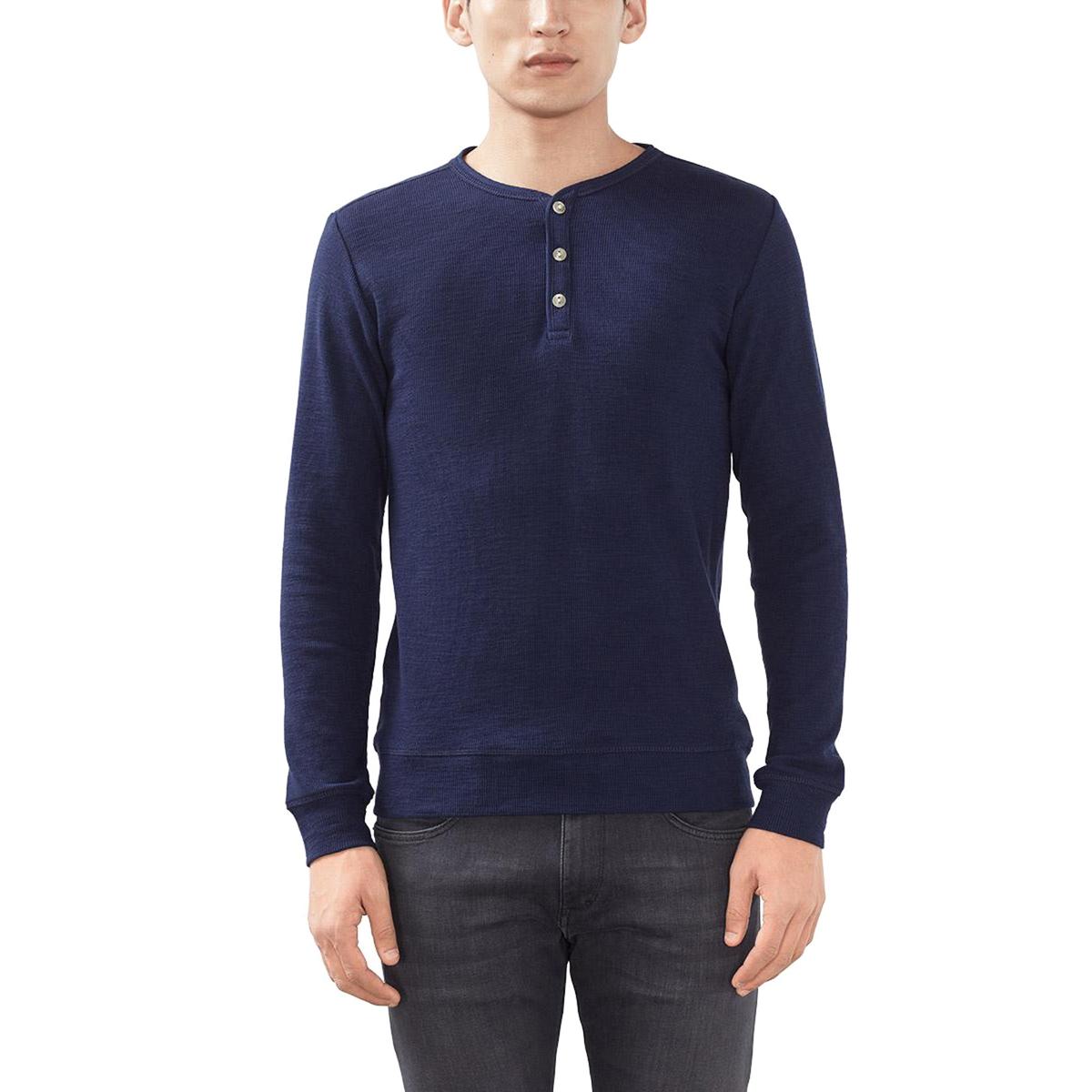Пуловер с тунисским воротником из 100% хлопка