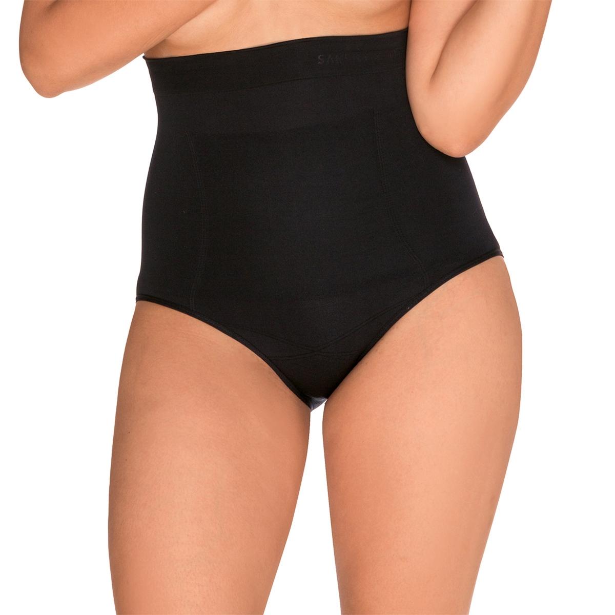 Трусы высокие, моделирующие SlimmerОчень высокий пояс до груди способствует усиленной поддержке брюшного пояса. Двойные силиконовые полоски, предотвращающие скольжение пояса, гарантируют отличную посадку. Плоская трикотажная кайма обеспечивает комфорт и незаметность под одеждой. Состав и описание трусов: Основной материал : 85% полиамида, 15% эластана.Марка : SANS COMPLEXE® Уход :Машинная стирка при 30 °С в мешке для стирки бельяСтирать вместе с одеждой подобных цветовНе гладить<br><br>Цвет: телесный,черный<br>Размер: 42/44 (FR) - 48/50 (RUS).38/40 (FR) - 44/46 (RUS).46/48 (FR) - 52/54 (RUS).50/52 (FR) - 56/58 (RUS)