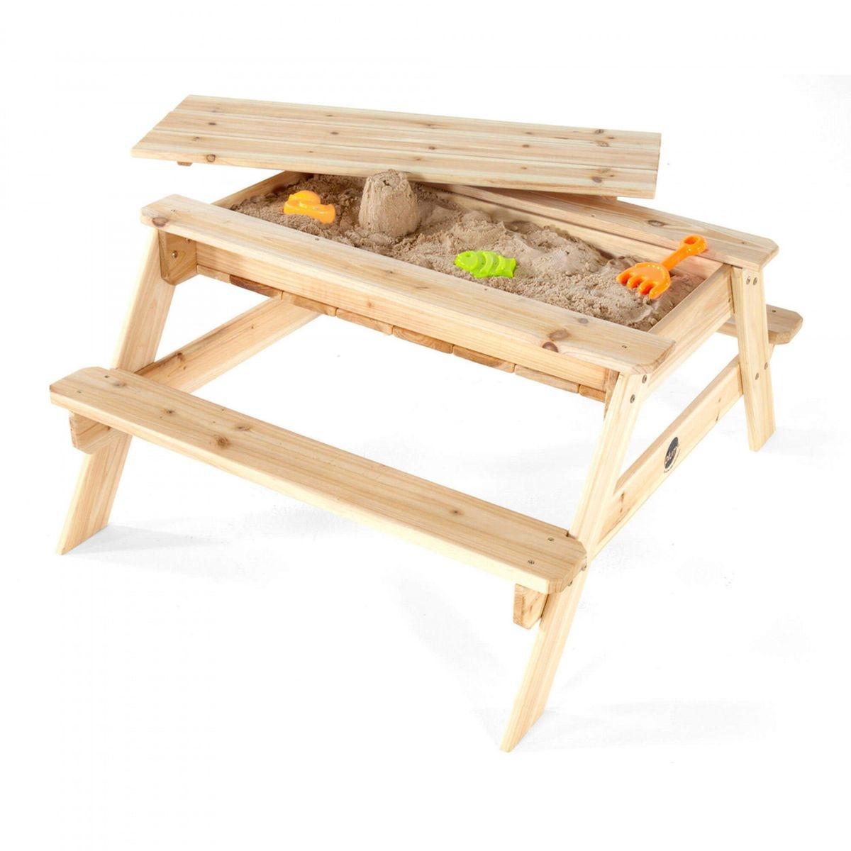 Table de pique-nique avec bac à sable