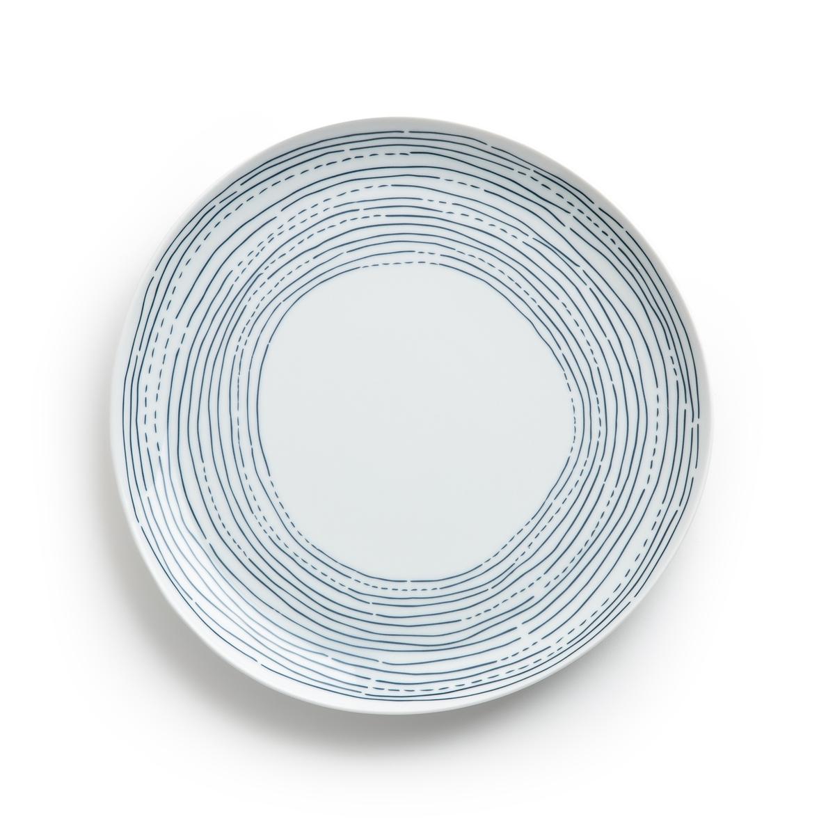 Комплект из 4 мелких тарелок из фарфора, Ø25 см, Agaxan 4 тарелки мелкие фарфоровые shigoni