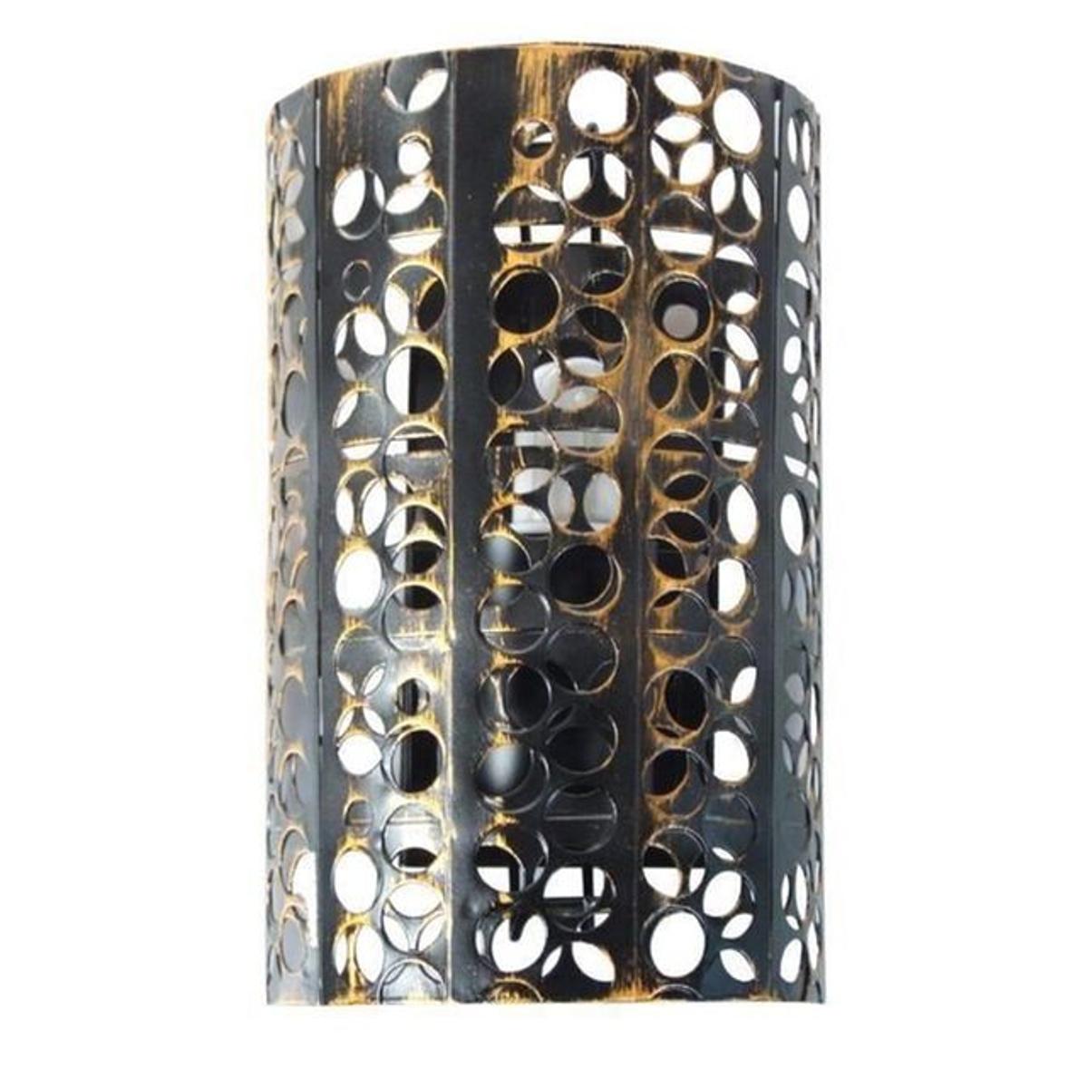 Applique cylindrique 15 cm en fer