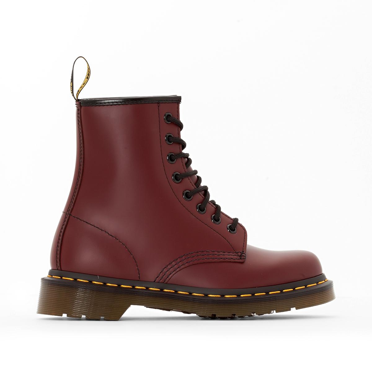 Ботинки La Redoute Кожаные на шнуровке 38 красный ботинки la redoute на шнуровке 38 белый