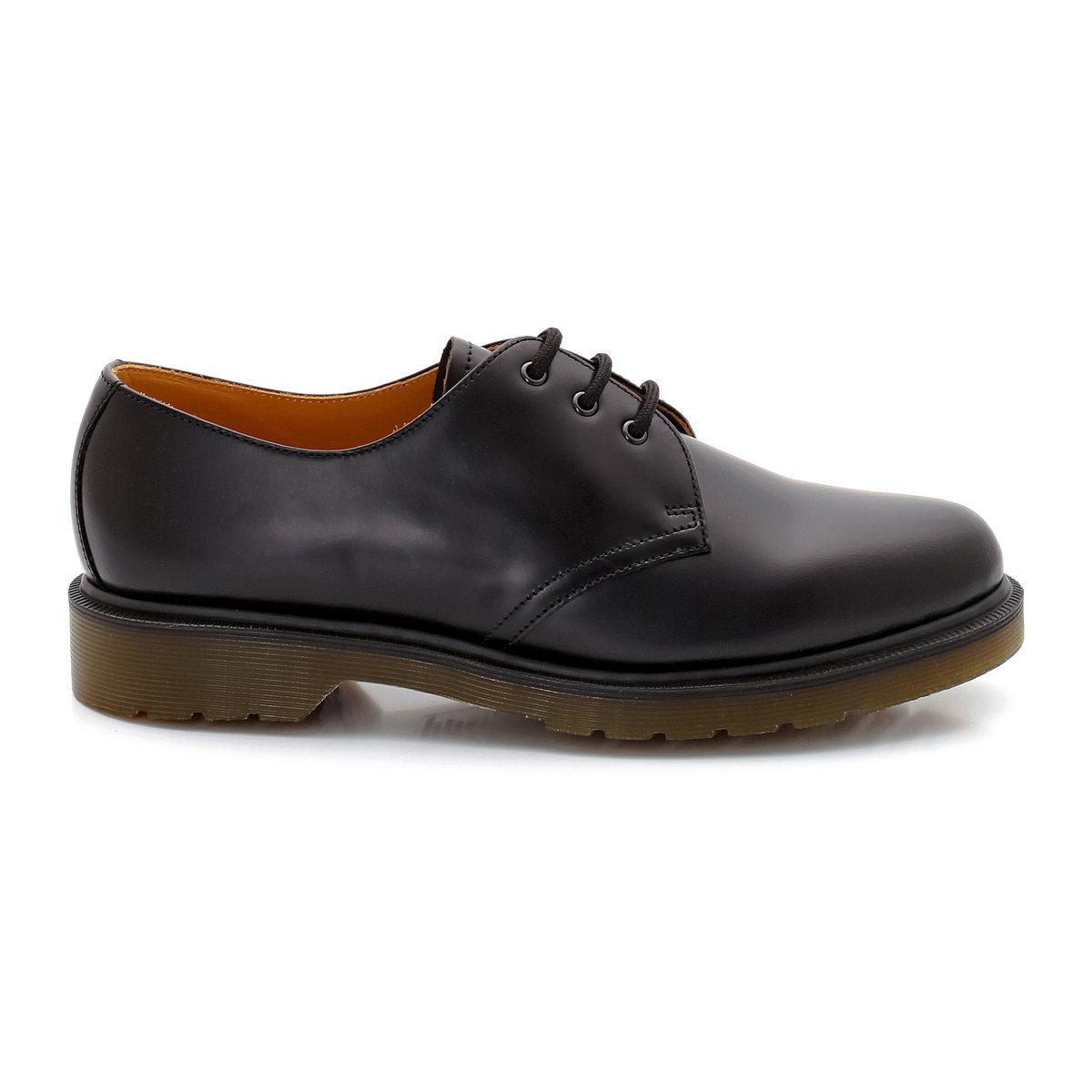 Ботинки-дерби LaRedoute Кожаные на шнуровке 1461 44 черный