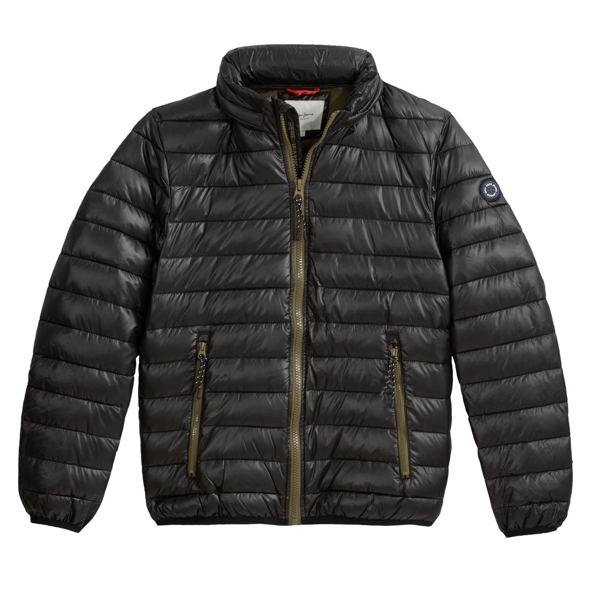 Куртка La Redoute Стеганая легкая с капюшоном Rick L черный пуховая стеганая куртка с капюшоном