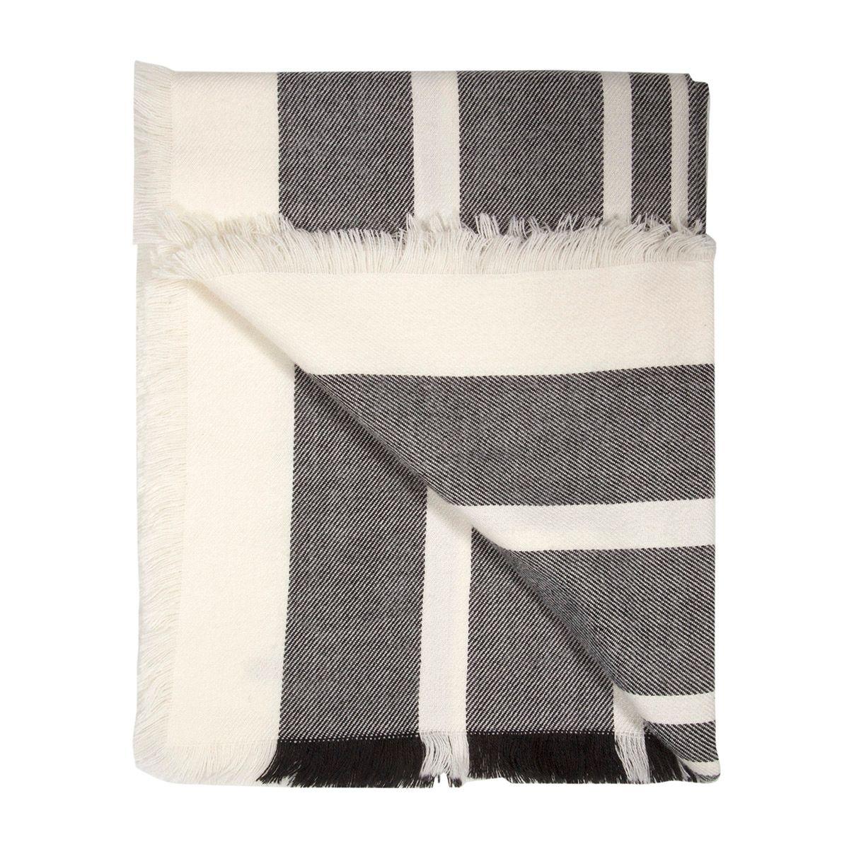 Echarpe plaid noir et blanc
