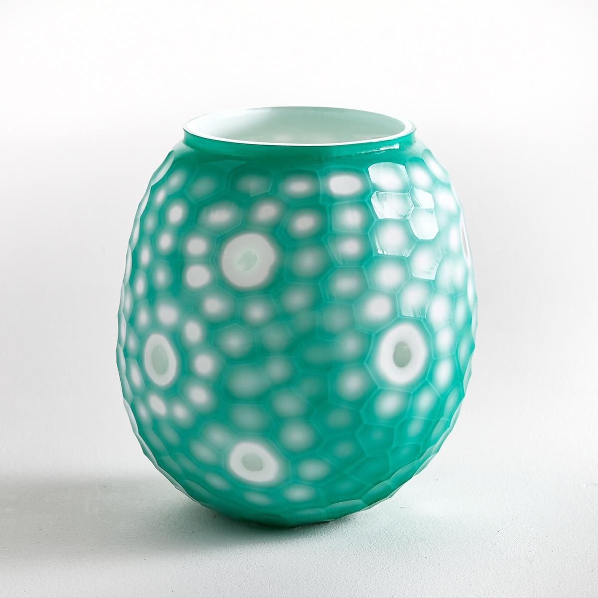 Ваза из опалового стекла Eliseum, большой размерВаза из опалового стекла Eliseum. Красивый рельефный элемент декора с выемками и кругами. Из опалового стекла зеленого цвета. Размеры: диаметр 20 x высота 22 см.<br><br>Цвет: зеленый<br>Размер: единый размер
