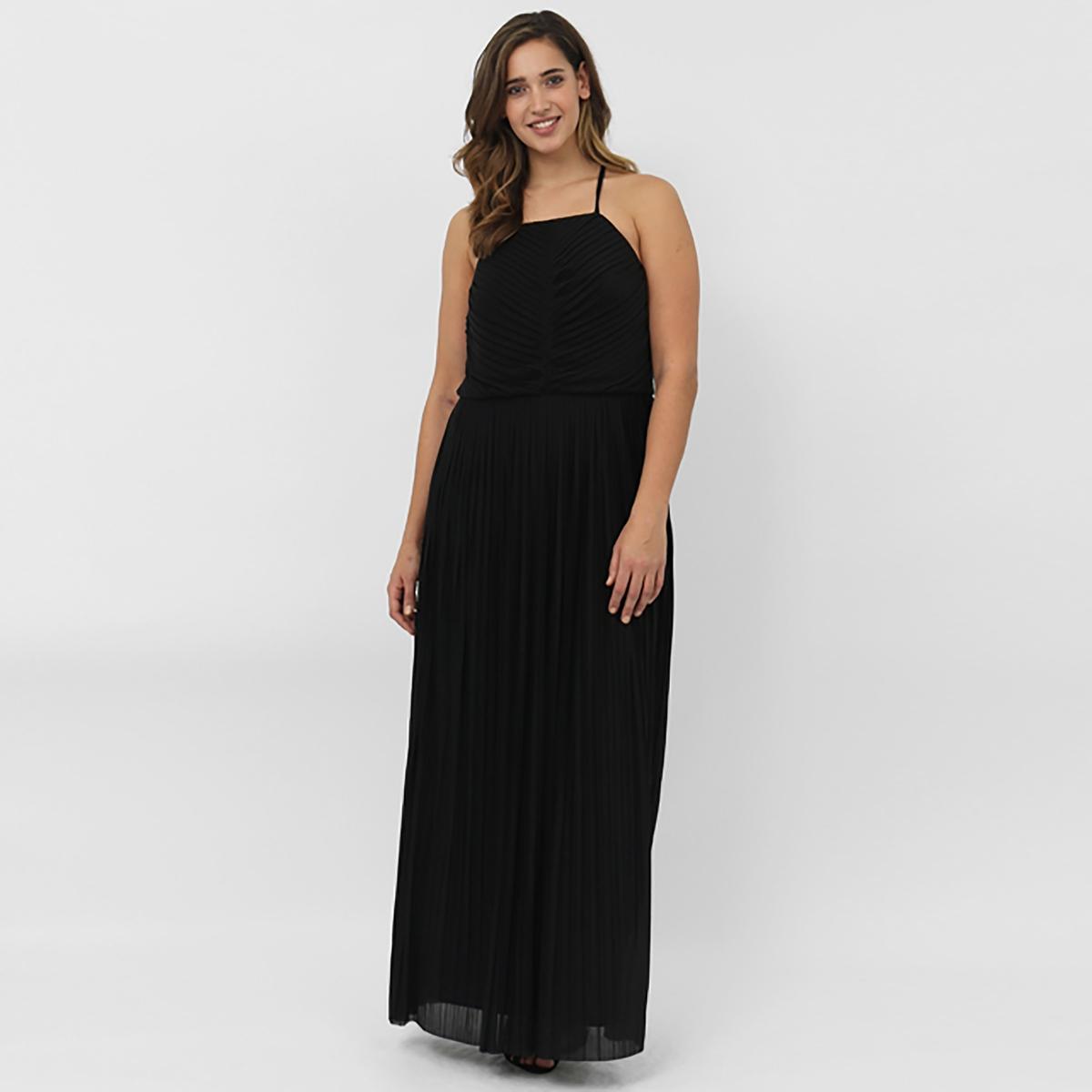 ПлатьеПлатье LOVEDROBE. Длинное платье на тонких бретелях. Бретели перекрещиваются сзади. Длина около 148 см. 100% полиэстера<br><br>Цвет: черный