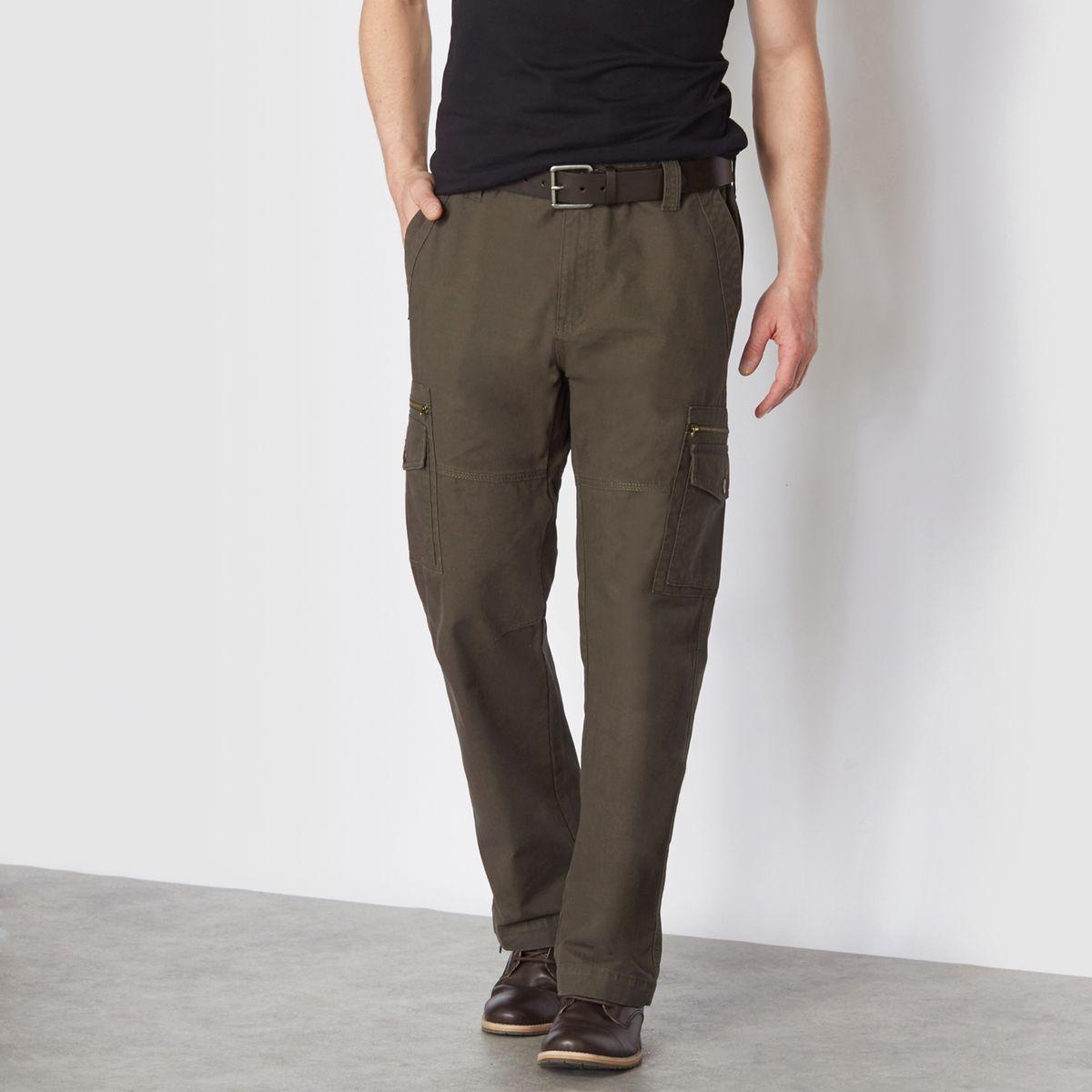 Pantalon cargo côtés élastiqués
