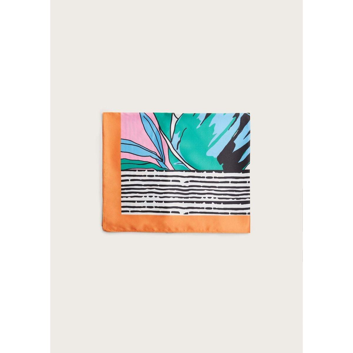 Foulard imprimé tropical