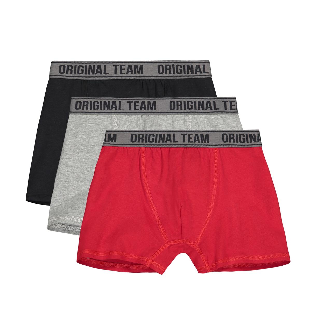 Lote de 3 boxers, 10-18 anos