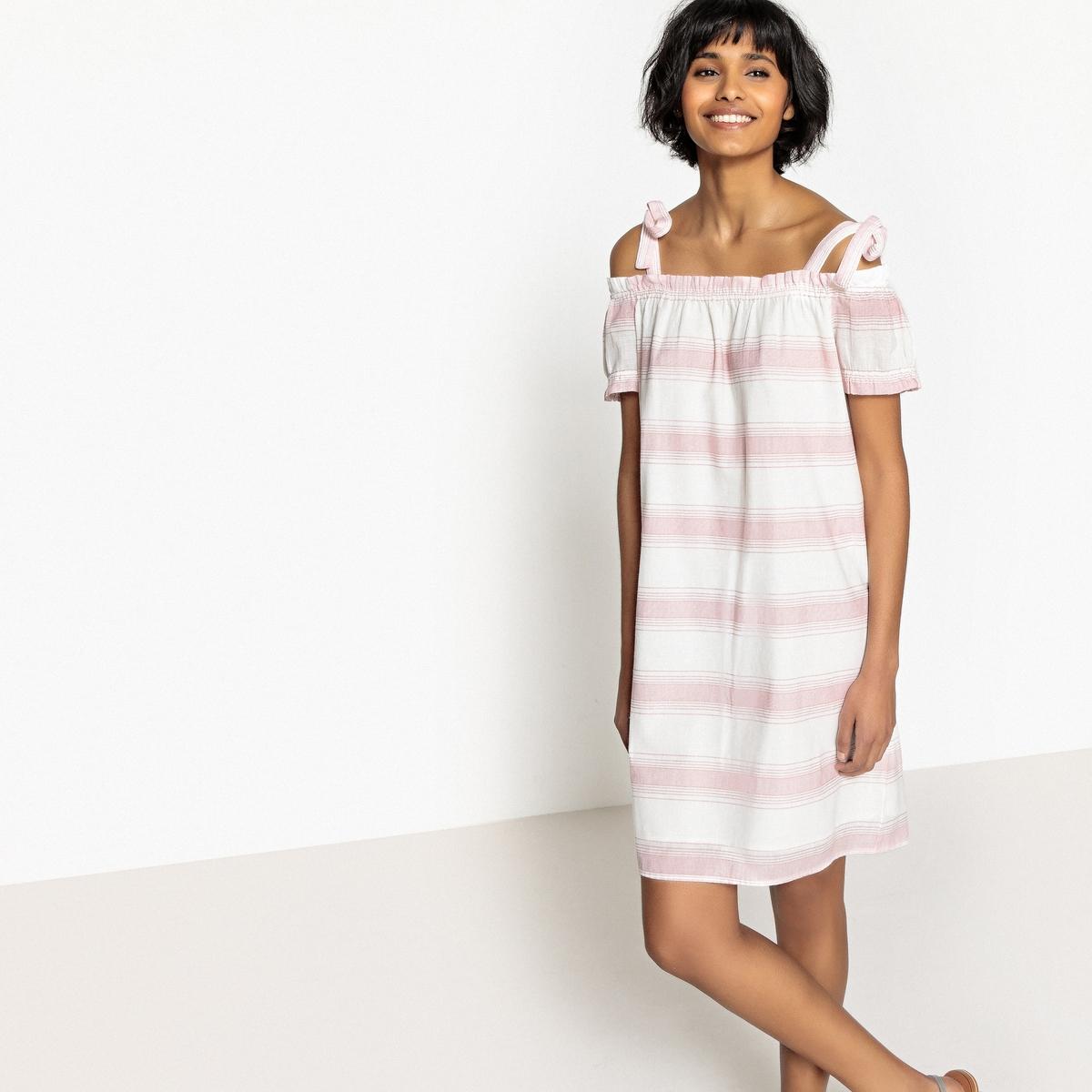 Платье прямое средней длины с рисунком, без рукавов