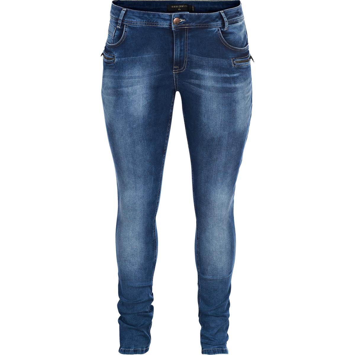 Джинсы скинни, длина 82 смДжинсы скинни ZIZZI, длина 82 см . 66% хлопка, 21% полиэстера, 11% вискозы, 2% эластана. Шлевки для ремня. Застежка на молнию. Стандартная посадка. Стретчевый материал высокого качества гарантирует комфорт использования<br><br>Цвет: синий джинсовый<br>Размер: 54 (FR) - 60 (RUS)