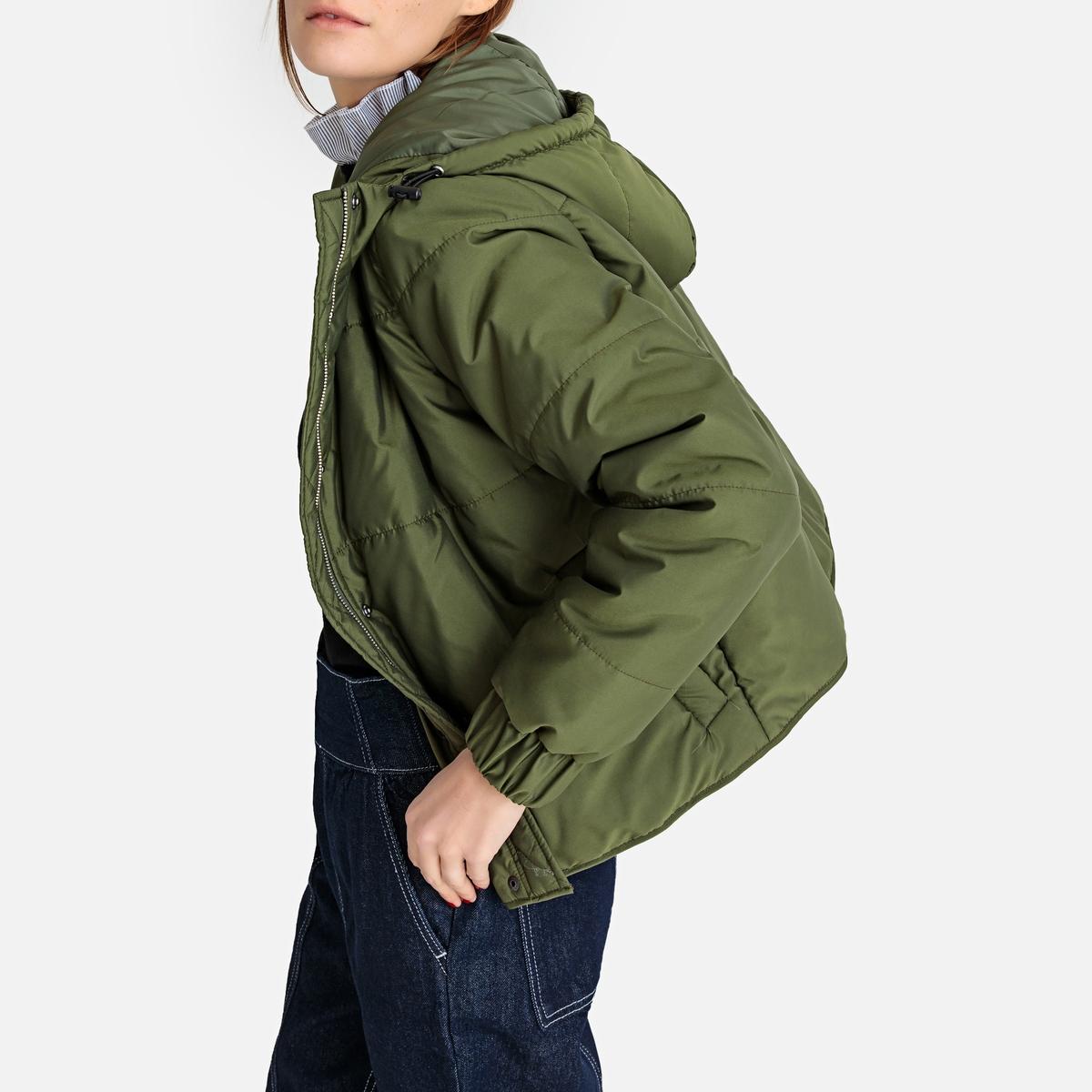 Куртка стеганая короткая с капюшоном, демисезонная модель La Redoute Collections