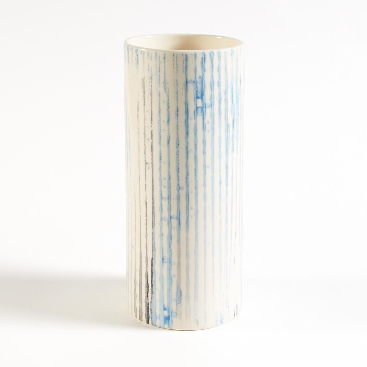 Ваза керамическая, покрытая эмалью, AtniqueКерамическая ваза Atnique добавит яркую нотку в ваш декор  . Ваши цветы будут выглядеть еще ярче . Характеристики керамической вазы с покрытием эмалью, Atnique :    Ваза в форме трубы из эмалированной крашенной керамики   .Найдите другие вазы на сайте laredoute    .ru.Размеры керамической вазы с покрытием эмалью :Размеры  : ?12,5 x В30 см .<br><br>Цвет: синий