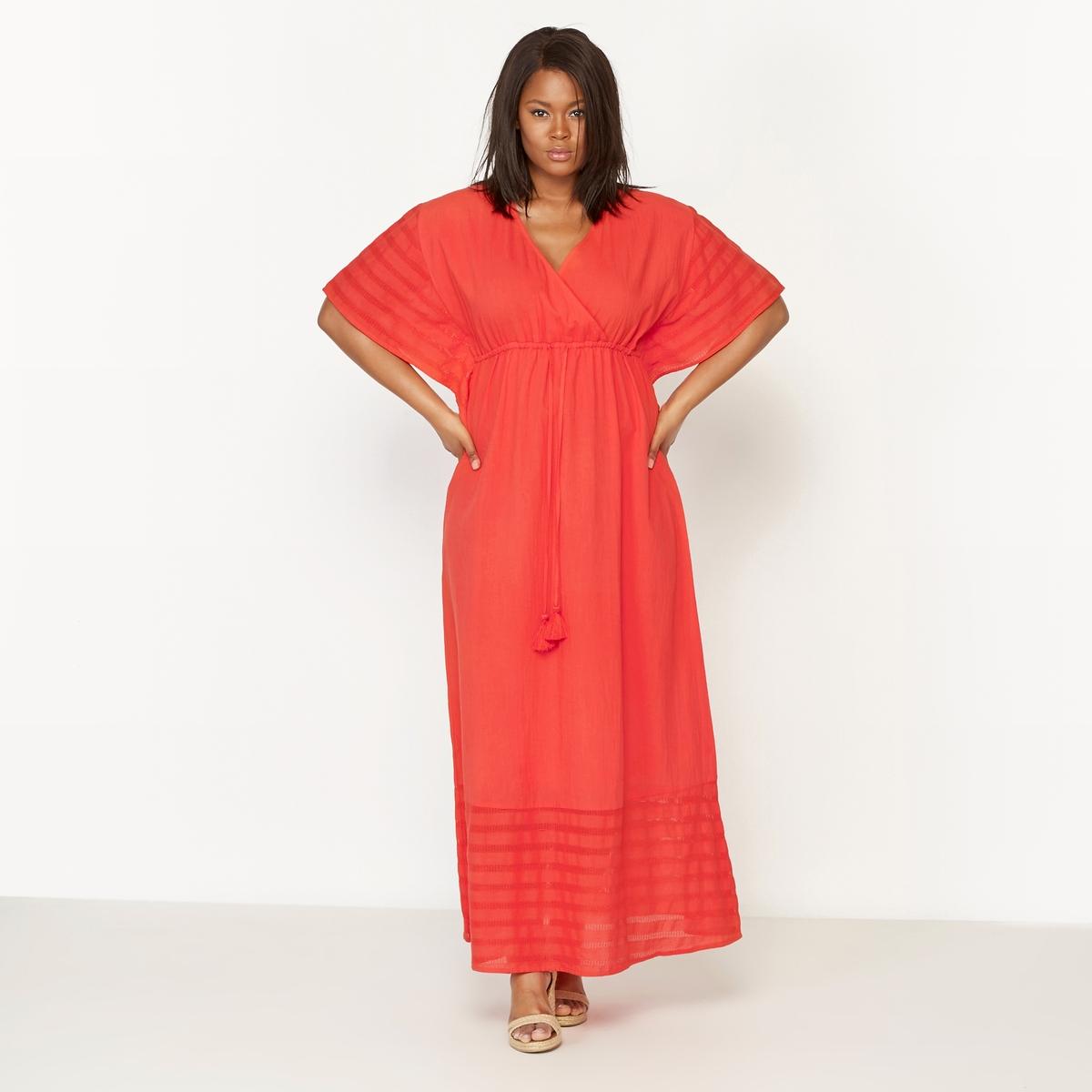 Платье-кафтан длинное