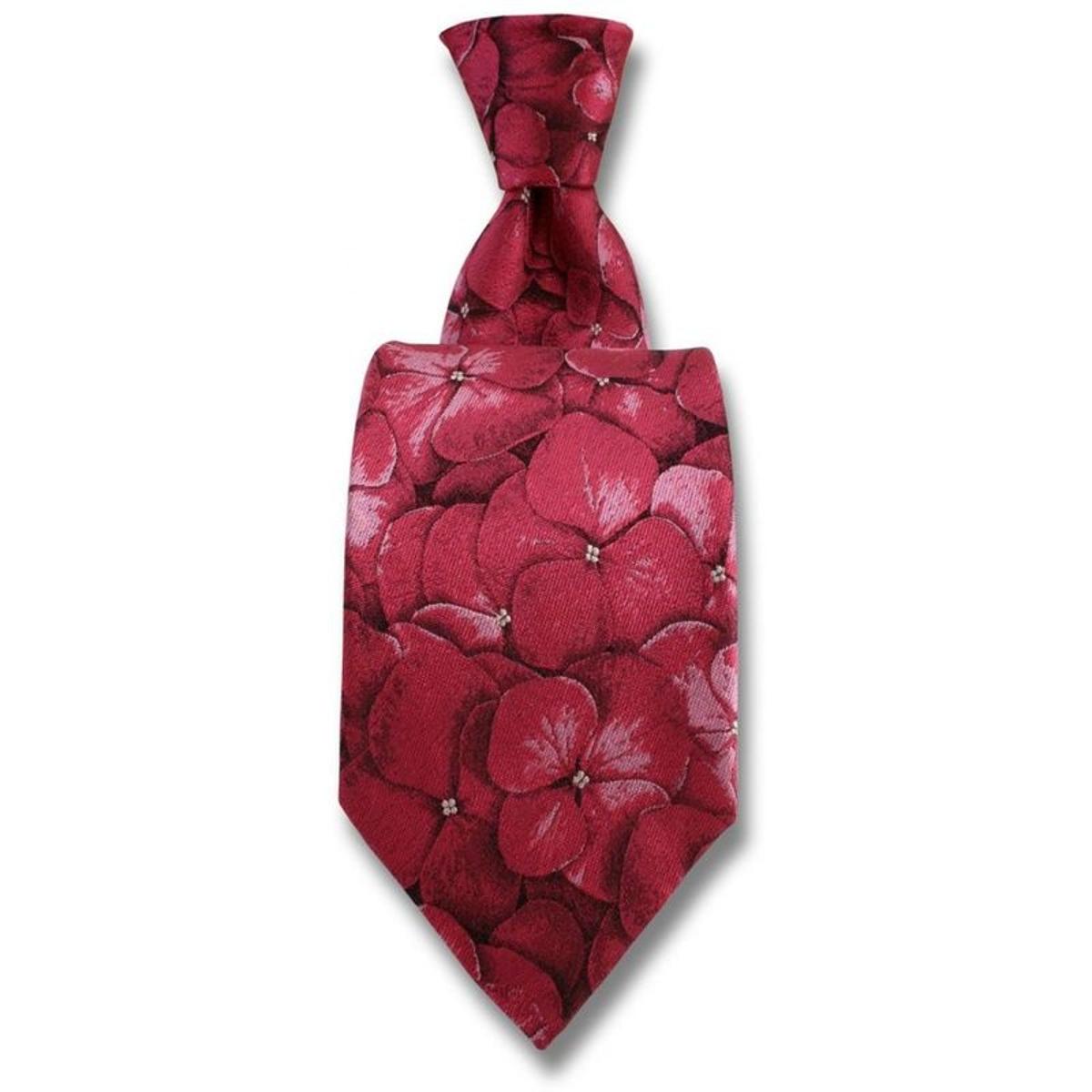 Cravate Hydrangea. Soie Fantaisie