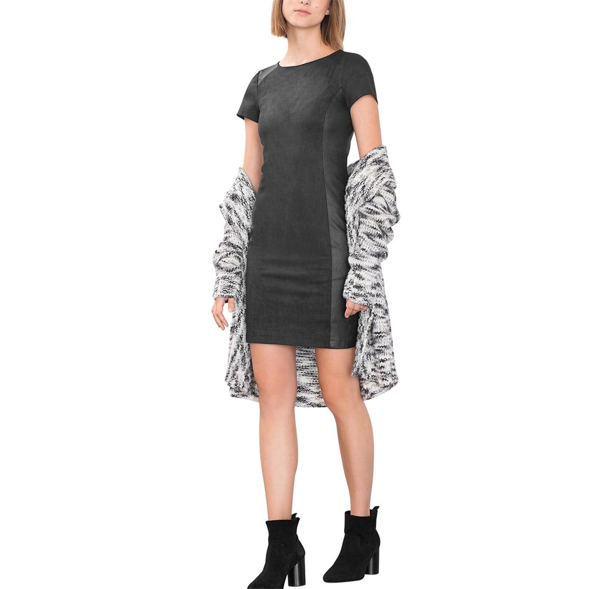 Платье приталенное из комбинированного материалаСостав и описаниеМатериал : 87% полиэстера, 13% эластанаМарка : EspritУходСледуйте инструкции по уходу на этикетке<br><br>Цвет: черный<br>Размер: 38 (FR) - 44 (RUS)