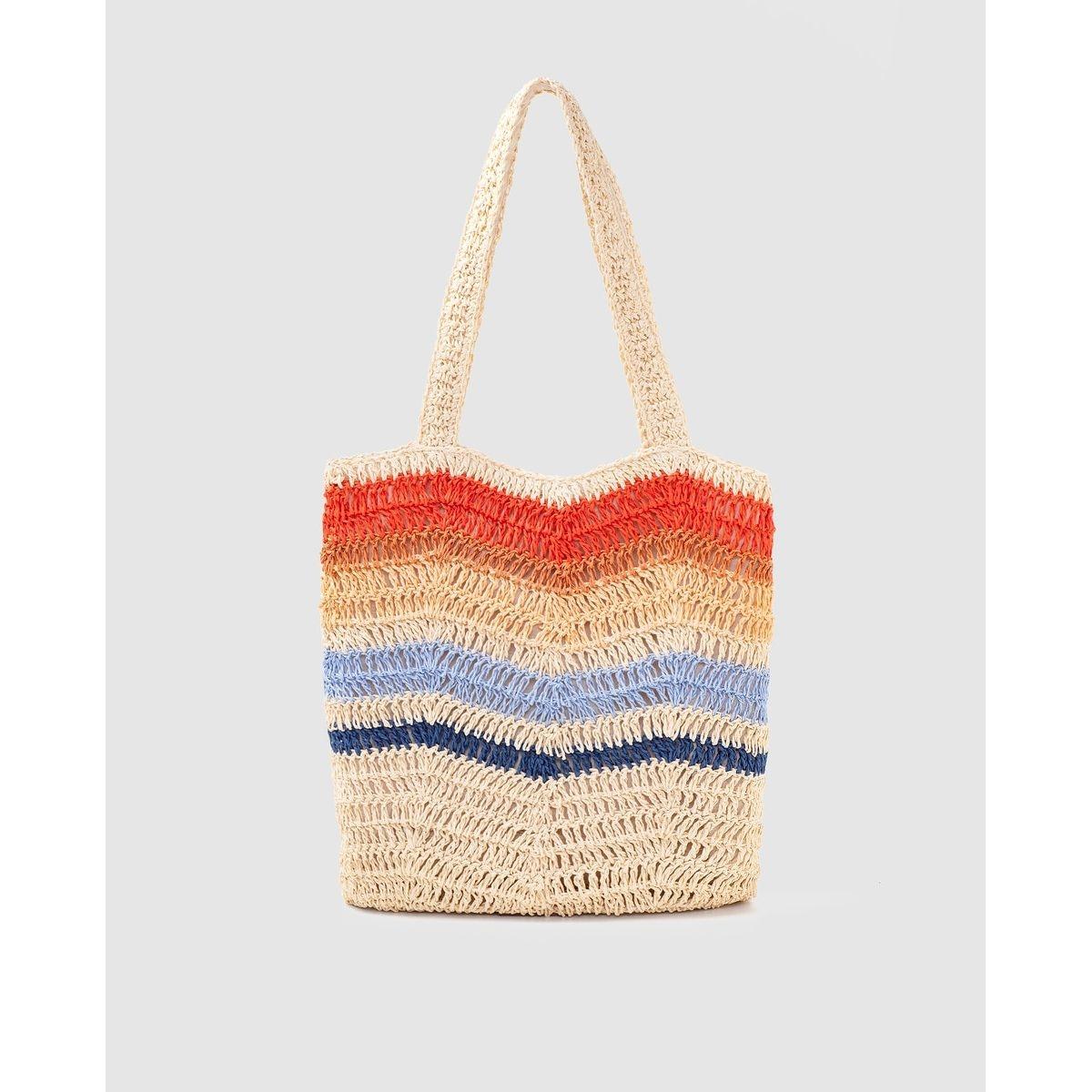 Grand sac cabas de plage à motif