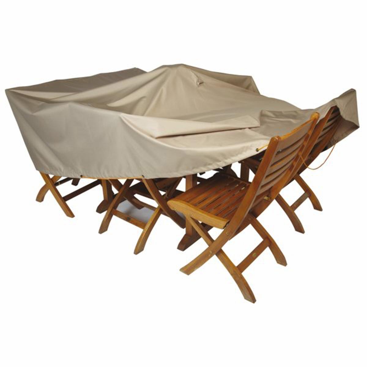 Telo impermeabile per tavolo da giardino larghezza 200 cm