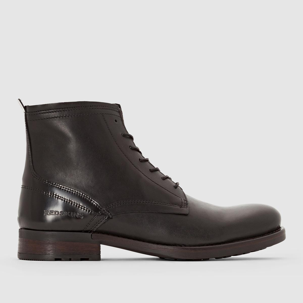 Ботильоны DUBOURПодкладка : Кожа и текстиль  Стелька : Кожа   Подошва : каучук.   Форма каблука : Плоский каблук   Носок : Закругленный.    Застежка : шнуровка.<br><br>Цвет: черный