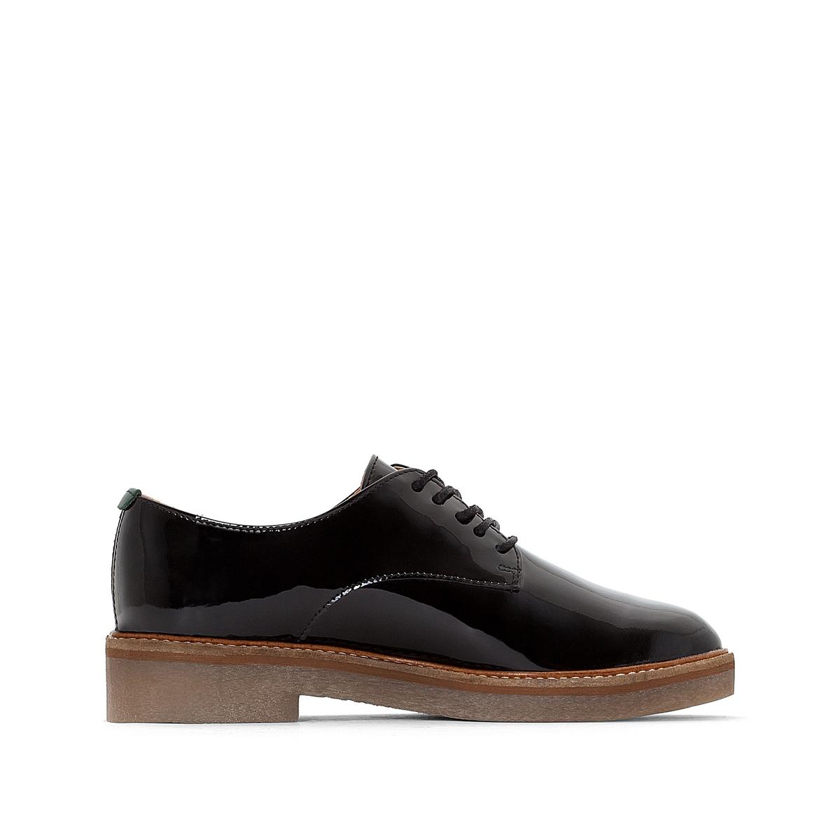 Ботинки-дерби из лакированной кожи OXFORK ботинки дерби из мягкой кожи takarika