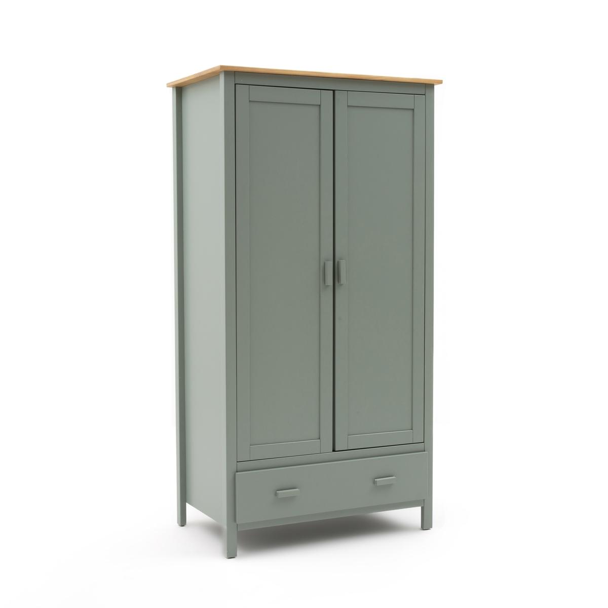 Шкаф LaRedoute С 2 дверцами ALVINA единый размер зеленый