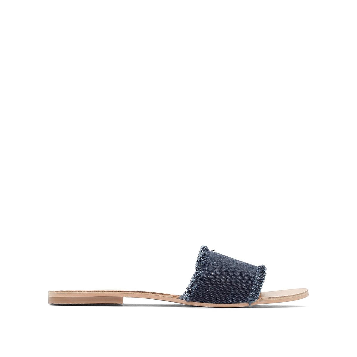 Туфли без задника тканевые