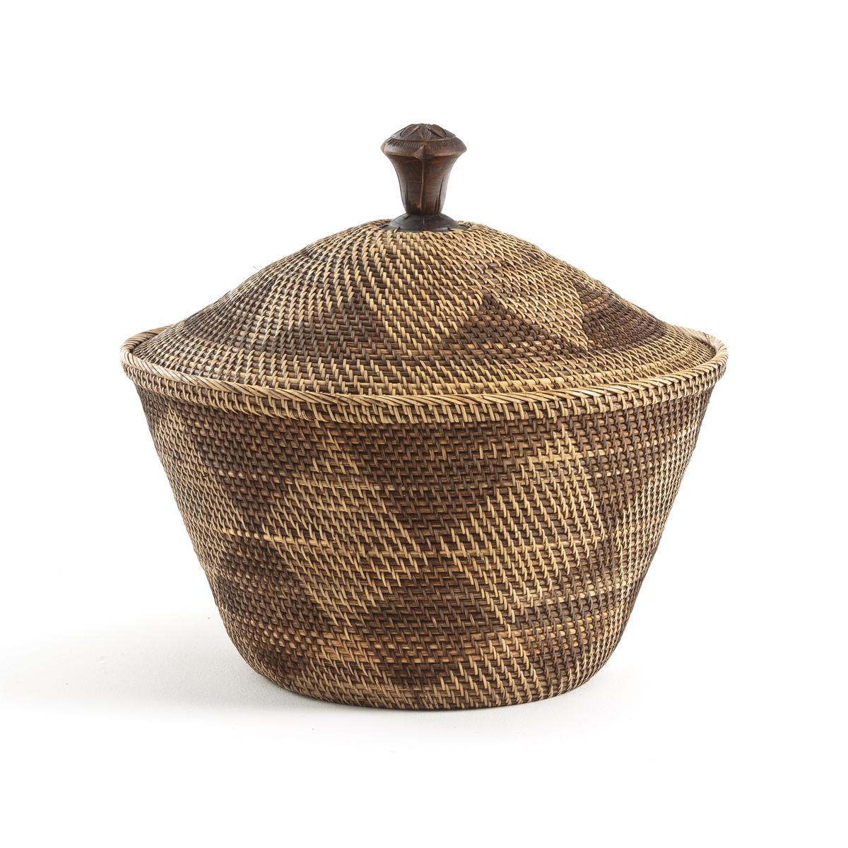 Корзина LaRedoute 45 x В43 см из ротанга и плетеного бамбука Brazil единый размер бежевый