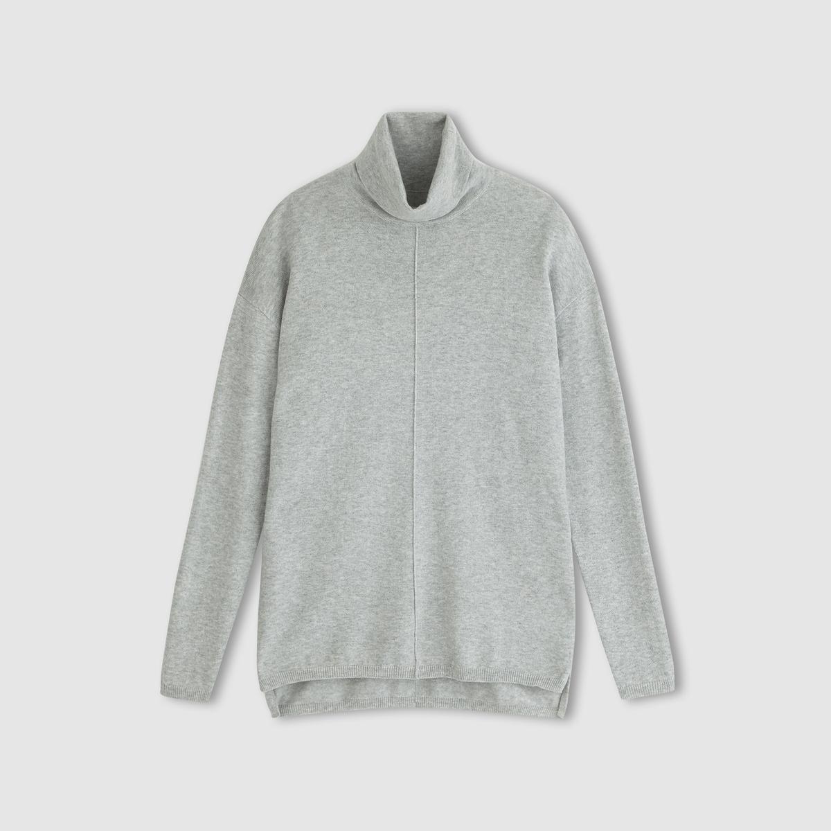 Пуловер с воротником с отворотом из хлопка и кашемира