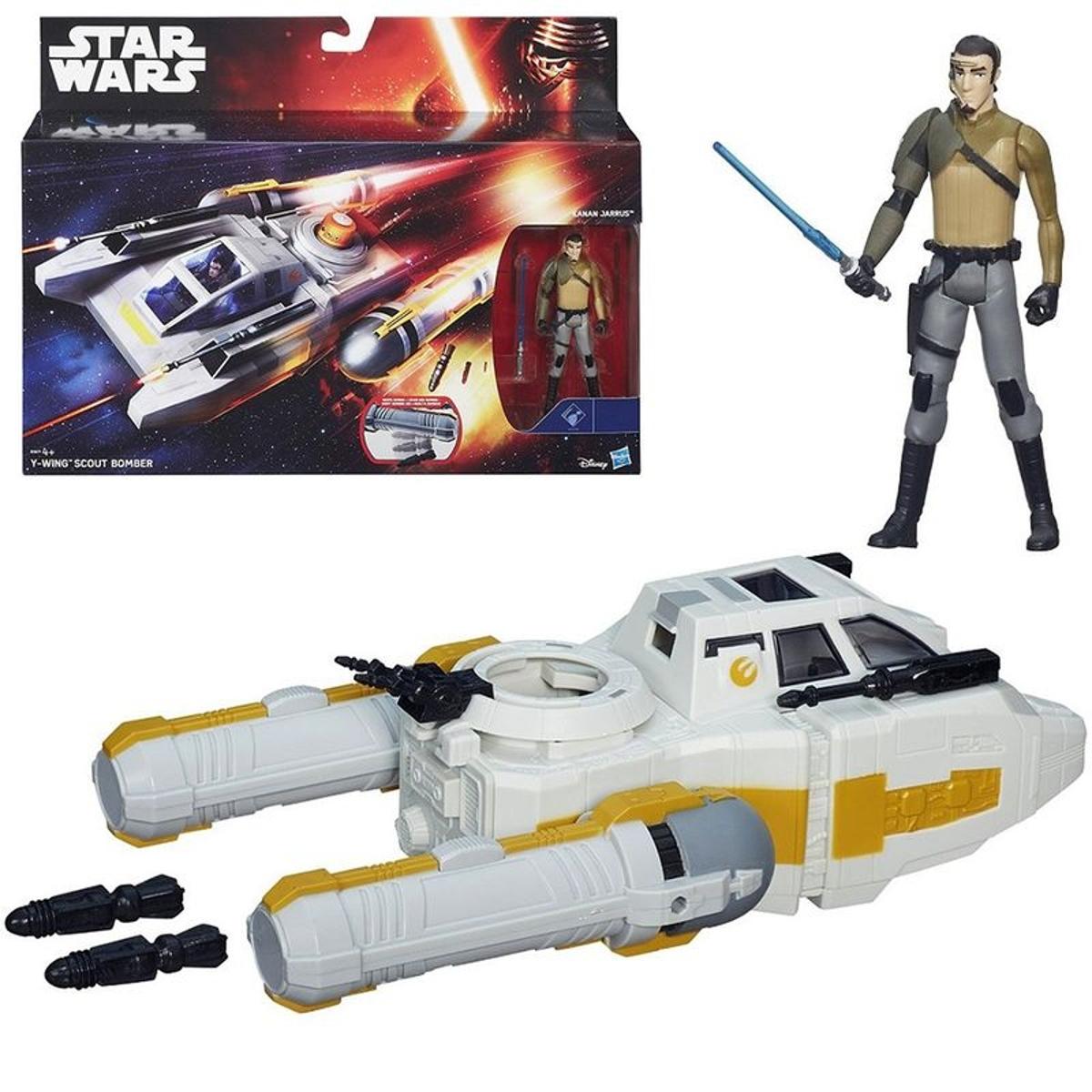Véhicule miniature Star Wars avec personnage