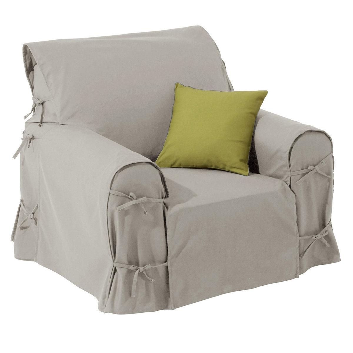 Чехол для креслаПодарите новую жизнь креслу благодаря этому чехлу из 100% хлопка, оцените широкую гамму ультрасовременных цветов!Характеристики чехла для кресла:- Практичный чехол для кресла регулируется завязками. - Красивая плотная ткань из 100% хлопка (220 г/м?).- Обработка против пятен.- Простой уход: стирка при 40°, превосходная стойкость цвета.Размеры чехла для кресла:- Общая высота: 102 см.- Максимальная ширина: 80 см.- Глубина сидения: 60 см.- Высота подлокотников: 66 см.Качество VALEUR S?RE. Производство осуществляется с учетом стандартов по защите окружающей среды и здоровья человека, что подтверждено сертификатом Oeko-tex®.<br><br>Цвет: облачно-серый,рубиново-красный<br>Размер: единый размер