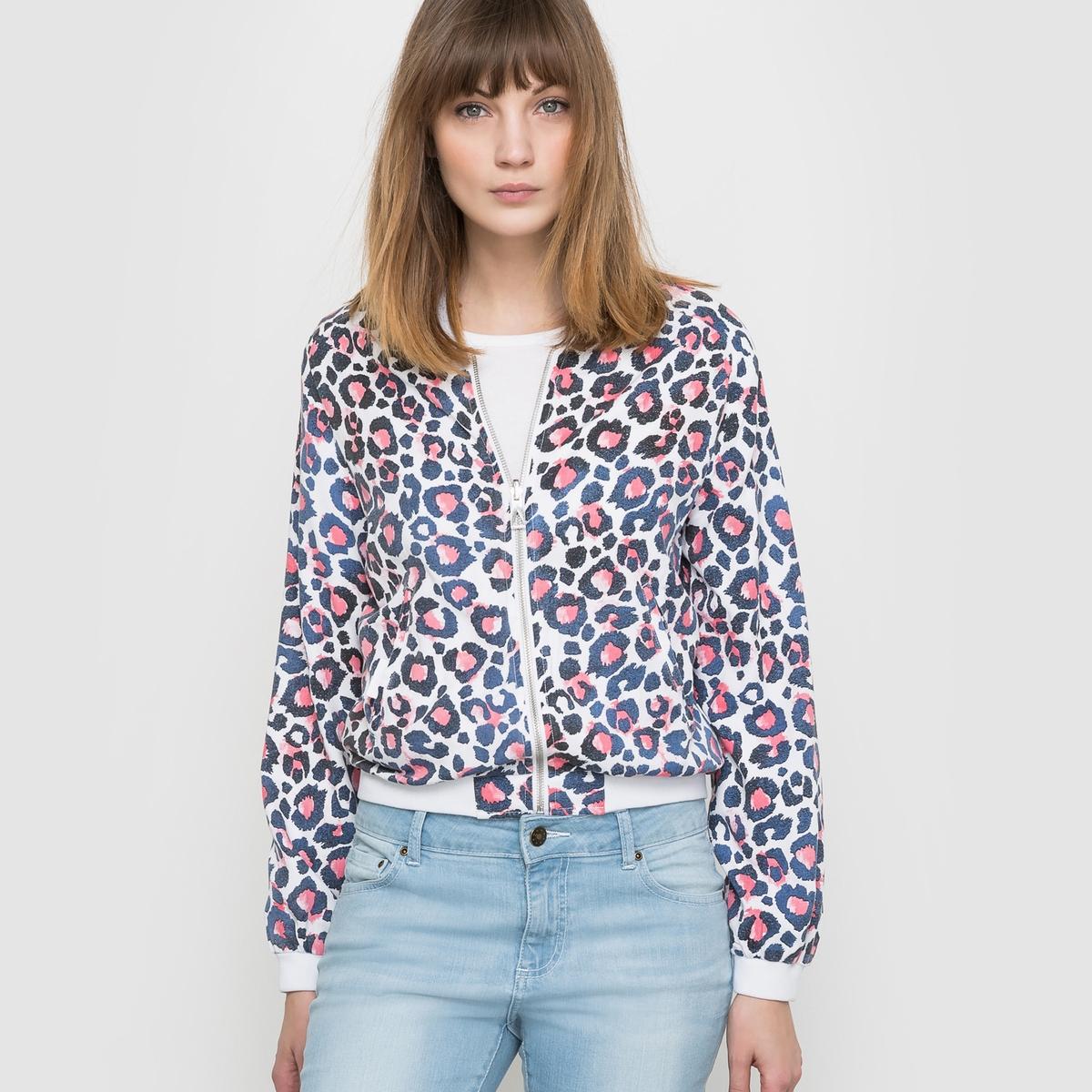 Куртка STANLEY, двусторонняя (однотонная/с рисунком)Состав и характеристики:Марка : ELEVEN PARIS.Модель : Stanley.Материалы  : 100% вискозыУходМашинная стирка при 30°<br><br>Цвет: рисунок розовый/синий<br>Размер: L