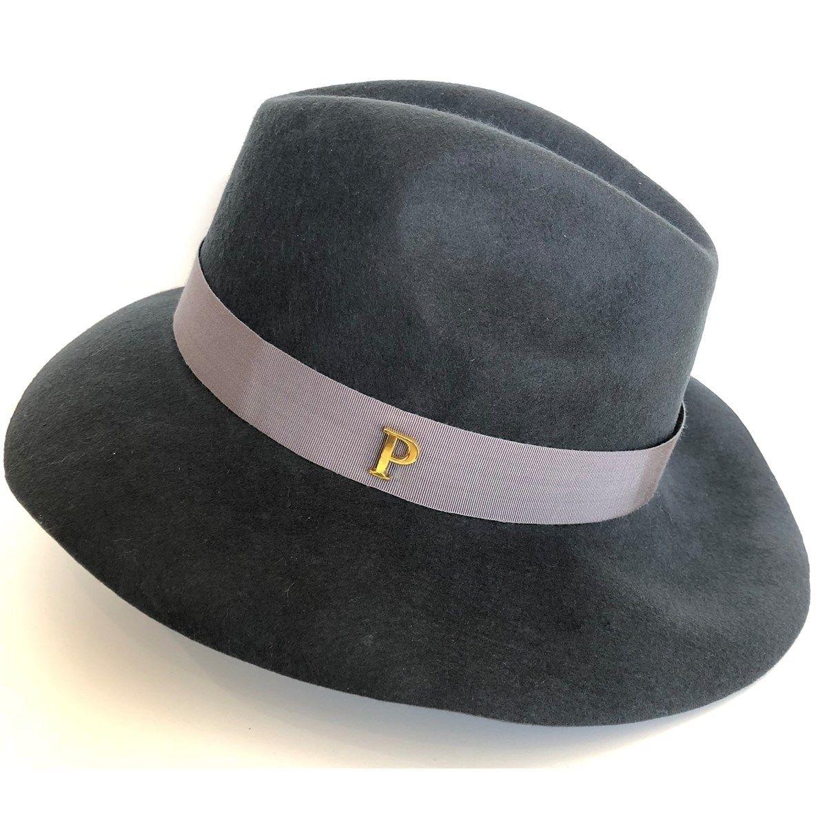 Chapeau feutre Frida ruban Linéa gris