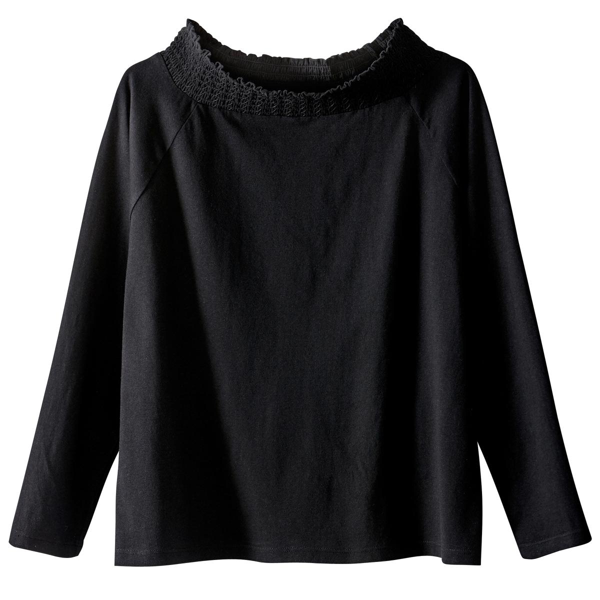 T-shirt aos favos, ombros descobertos