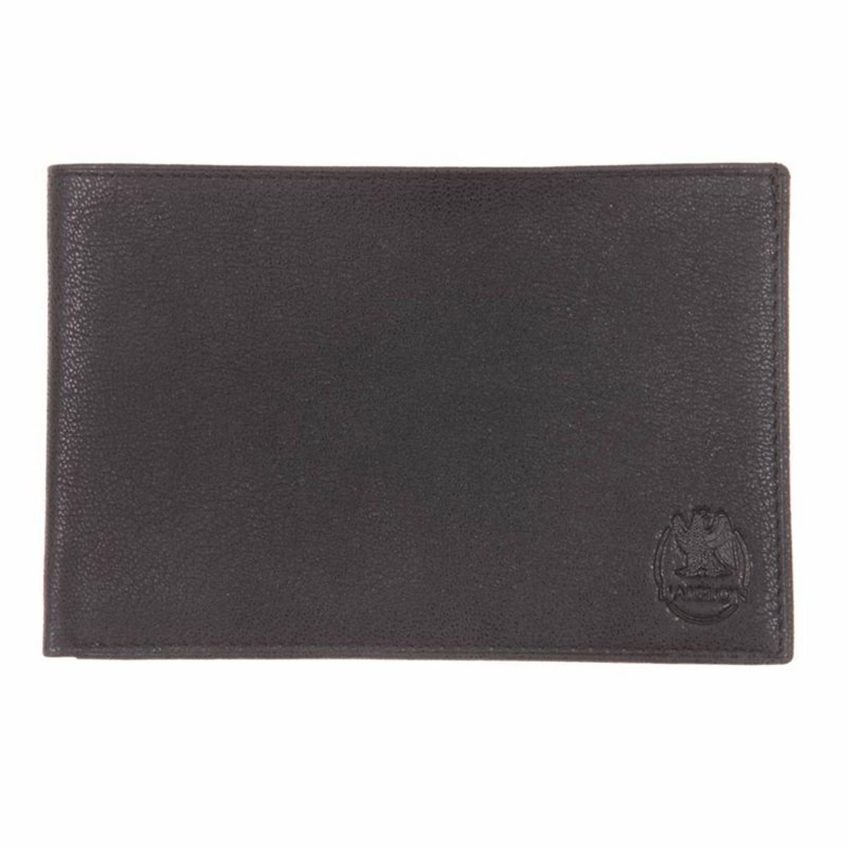 Portefeuille extra plat   10 cartes en cuir grainé vieilli