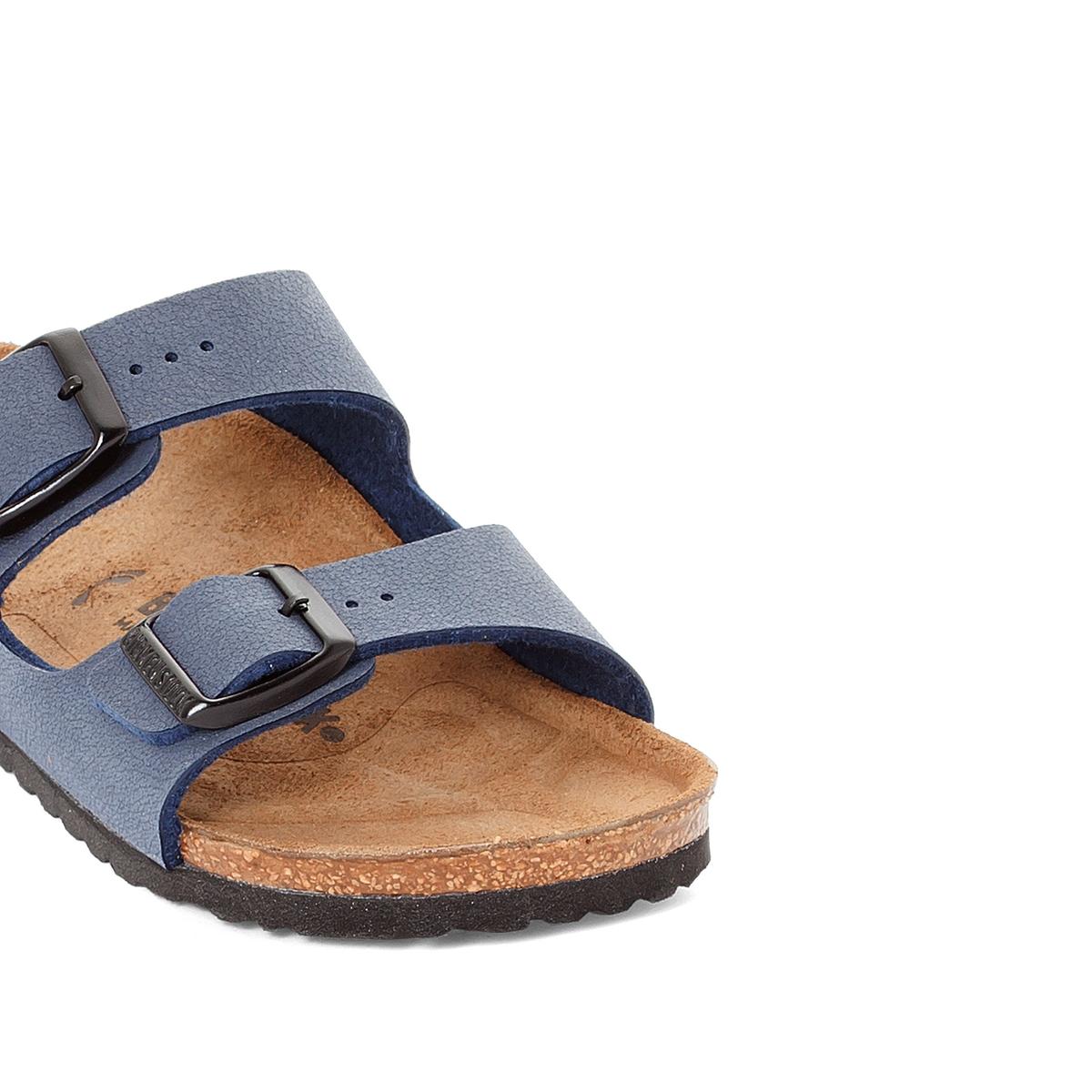 Туфли без задника синтетическиеОписание:Детали   •  Туфли без задника •  Застежка : без застежки •  Открытый мысокСостав и уход  •  Верх 100% синтетический материал •  Подкладка 100% текстиль •  Стелька 100% кожа •  Подошва 100% ЭВА<br><br>Цвет: темно-синий<br>Размер: 31