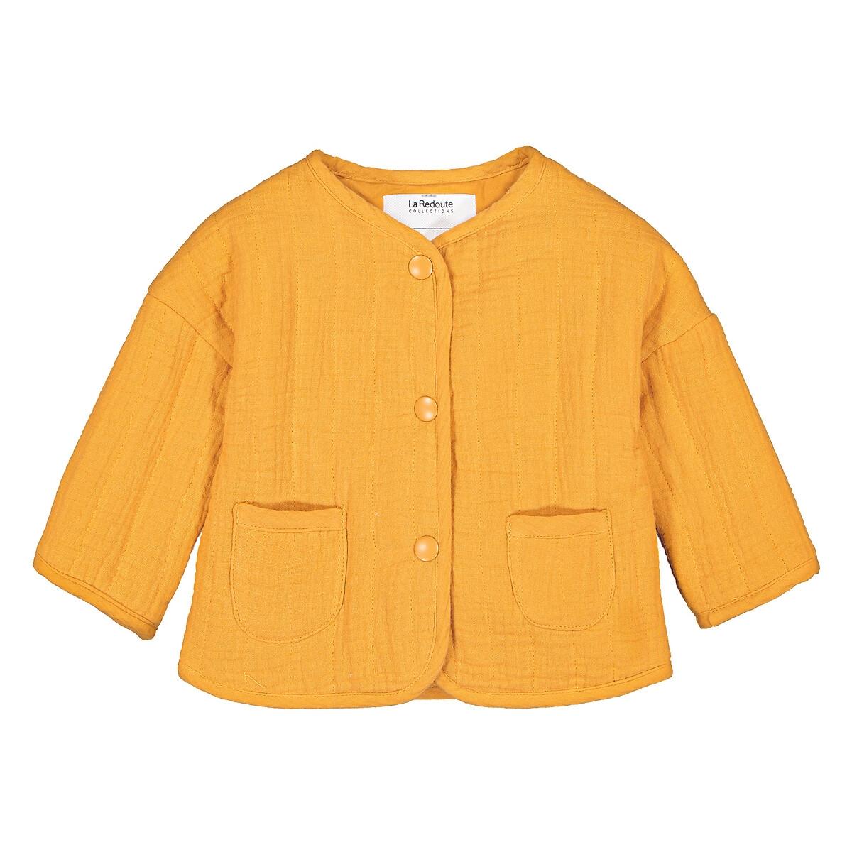 Фото - Жакет LaRedoute Из хлопчатобумажной газовой ткани 3 мес-4 года 3 года - 94 см желтый платье laredoute с короткими рукавами из хлопчатобумажной газовой ткани 3 12 лет 3 года 94 см розовый