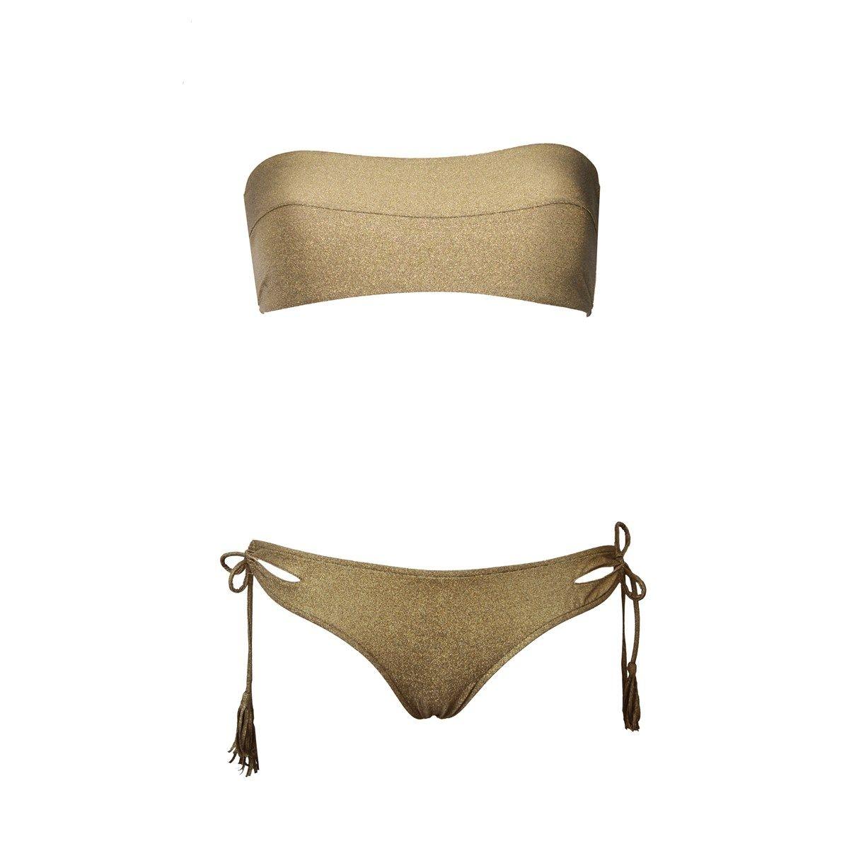 Maillot de bain deux pièces bandeau LAURA GOLD