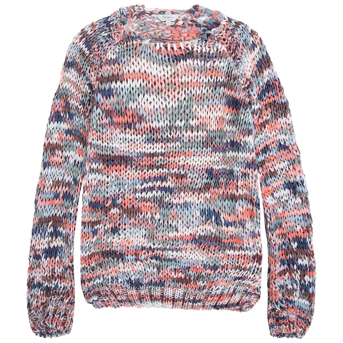 Пуловер классическийДетали •  Длинные рукава  •  Круглый вырез •  Плотный трикотаж  •  Этнический рисунок Состав и уход •  50% вискозы, 50% полиамида •  Следуйте советам по уходу, указанным на этикетке<br><br>Цвет: разноцветный<br>Размер: L.S