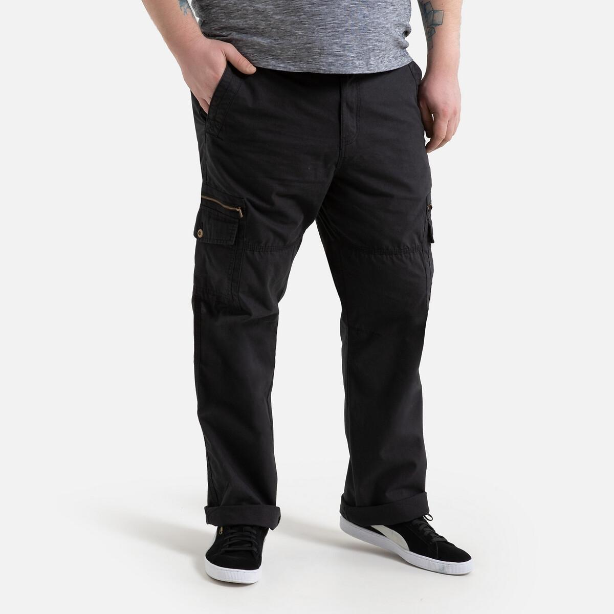 Брюки La Redoute Карго спортивные хлопка 48 (FR) - 54 (RUS) черный брюки la redoute карго хлопок 36 fr 42 rus зеленый