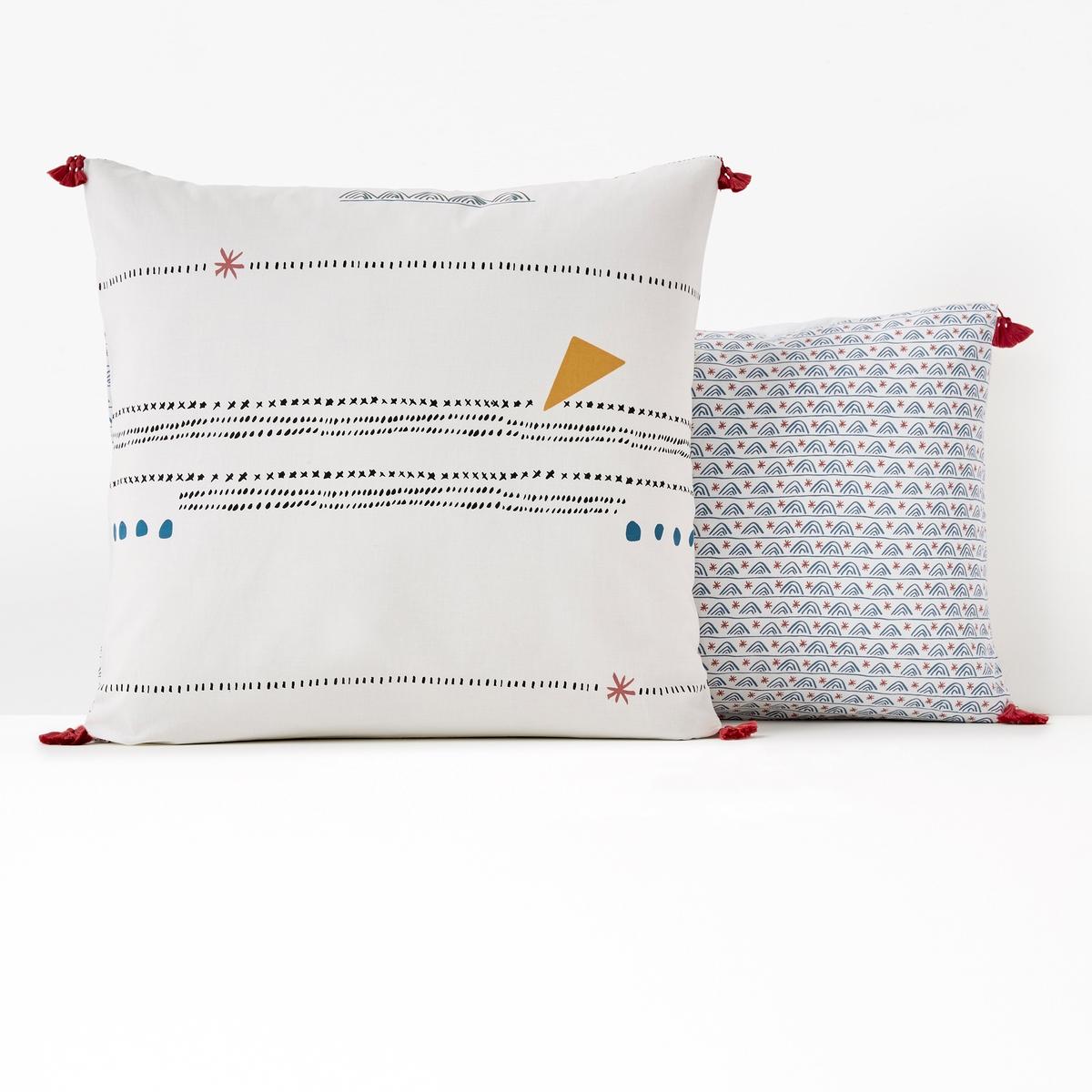 Kissenbezug AMAZIGH aus reiner Baumwolle | Heimtextilien > Bettwäsche und Laken > Kopfkissenbezüge | Baumwolle | La Redoute Interieurs