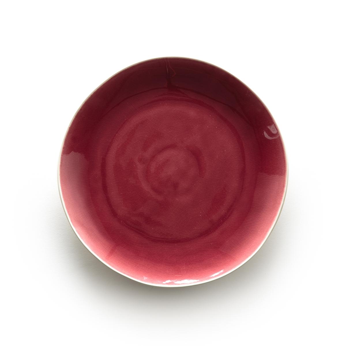 Комплект из 4 неглубоких тарелок из фаянса, DEONIE ваза из фаянса catalpa