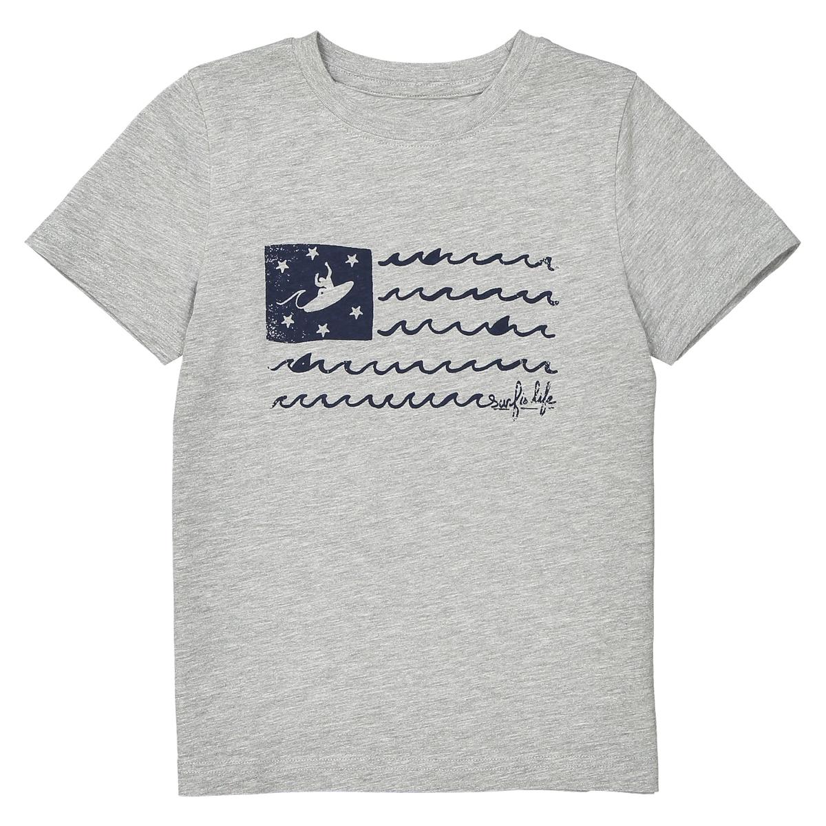 T-shirt estampado em algodão, 3-12 anos