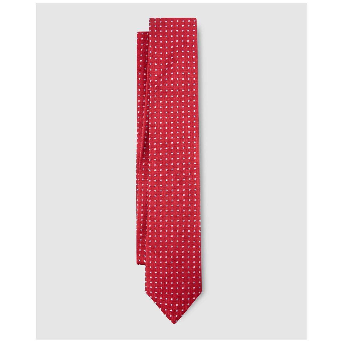 Cravate en soie à motif /