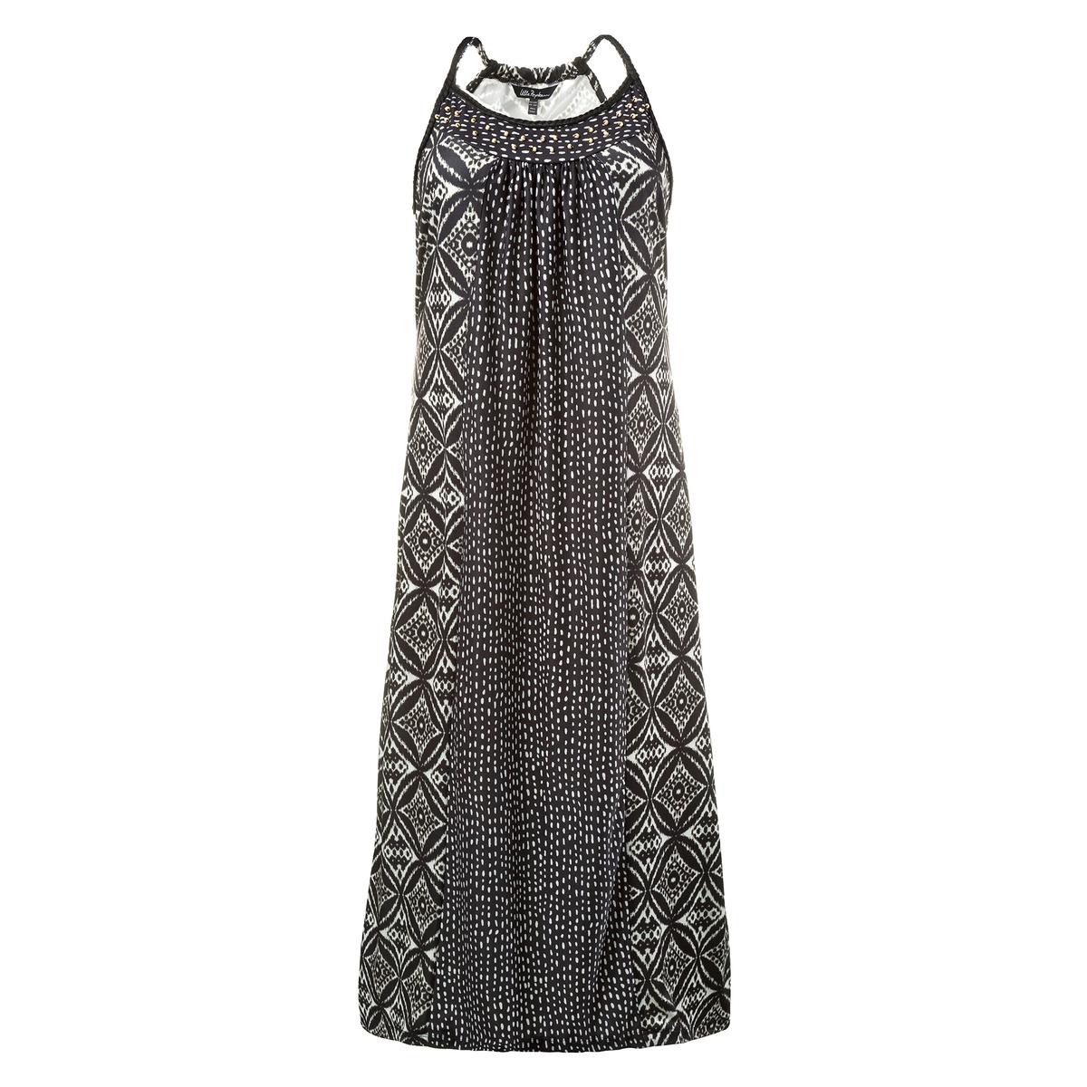 Платье длинное<br><br>Цвет: набивной рисунок<br>Размер: 44/46 (FR) - 50/52 (RUS)