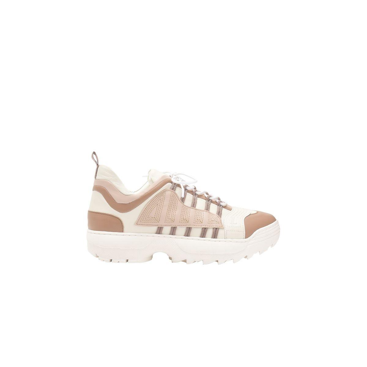 Sneakers à lacets en cuir BASKET
