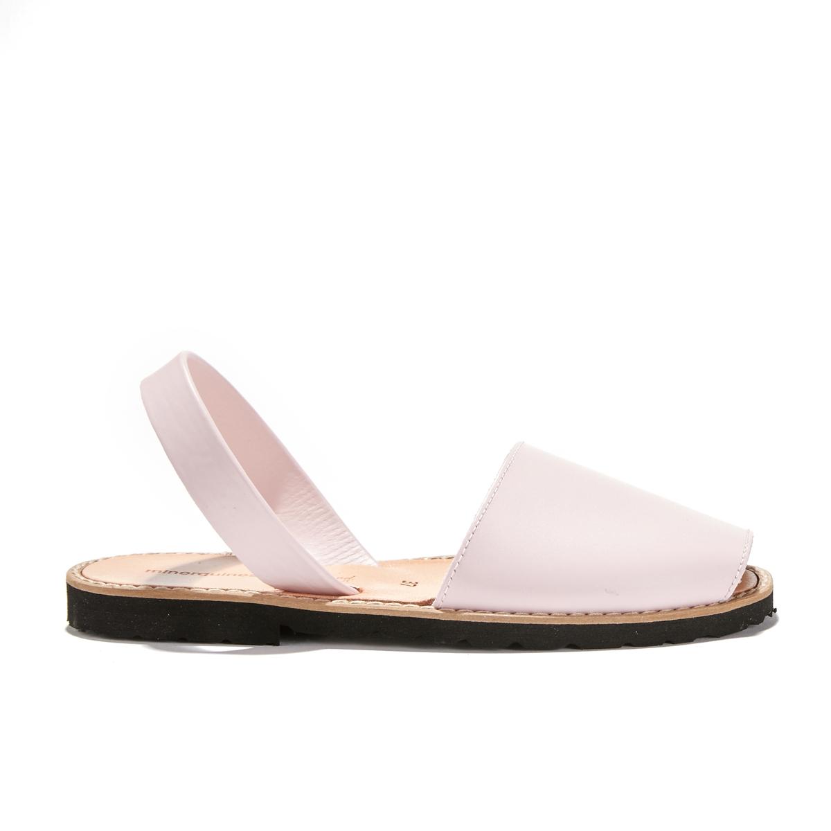 Босоножки кожаные с открытым мыском на плоской подошве AVARCA CUIR couture du cuir кожаные брюки